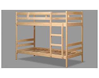 Кровать 2-хярусная  Аджио ЭКО-12 из массива 80/190