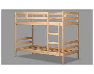 Кровать 2-хярусная Аджио ЭКО-12 из массива 80/200