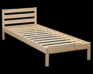 Кровать Аджио ЭКО-7 из массива с укороченной спинкой 80/200