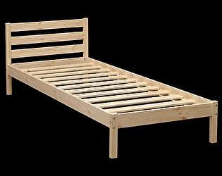 Кровать Аджио ЭКО-7 из массива с укороченной спинкой 90/200