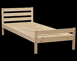 Кровать Аджио ЭКО-8 из массива 90/200