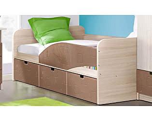Детская кровать Диал Бриз-3 80х190 (шоколад квадрат)