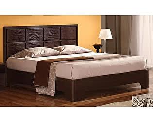 Кровать Уфамебель Некст с вставками из кожи 120