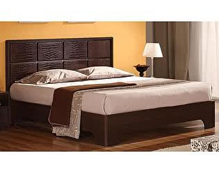 Кровать Уфамебель Некст с вставками из кожи 140
