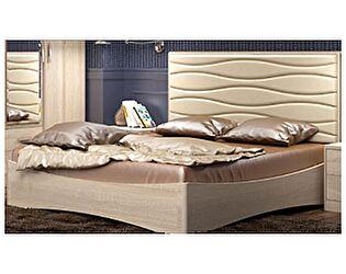 Кровать Джустин 1600, кожа bisquit