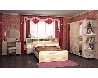 Модульная спальня Браво Фиеста (композиция 9), перламутр
