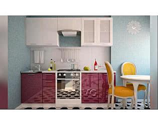 Модульная кухня Браво Греция (композиция 1) Белый металлик / Гранатовый металлик