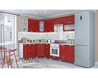 Модульная кухня SV-мебель Модерн, гранат