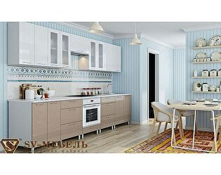 Модульная кухня SV-мебель Волна, капучино