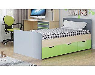 Кровать SV-мебель Алекс-1 90х200 без ящиков (клен / титан)