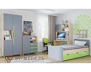 Модульная детская SV-мебель Алекс 1 (клен/титан), композиция 1