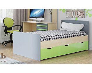 Кровать SV-мебель Алекс-1 90х200 с ящиками (клен / титан)