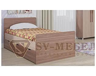 Кровать SV-мебель Алекс-1 90х200 без ящиков (шимо темный / шимо светлый)