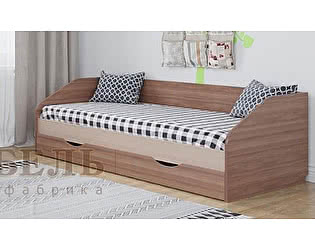Кровать SV-мебель Алекс-1 90х200 с ящиками (шимо темный / шимо светлый)