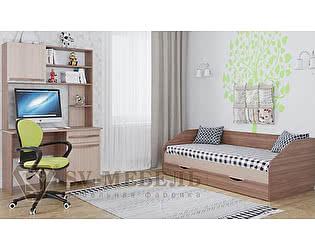 Модульная детская SV-мебель Алекс 1 (шимо тёмный/шимо светлый), композиция 2