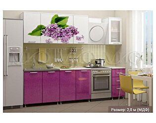 Купить кухню Миф Сирень 2000 с фотопечатью