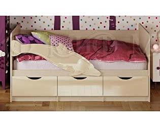 Купить кровать Миф Дельфин-1 МДФ 80х200 ваниль глянец