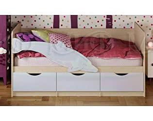 Купить кровать Миф Дельфин-1 МДФ 80х180 белый глянец