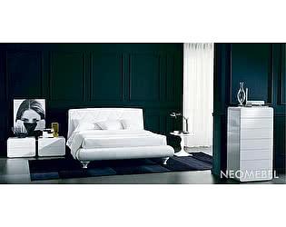 Купить кровать M-City ALEXIA (3147PN) 180x200 (TR505 белый кат.В, экокожа, LO79 белые ноги)