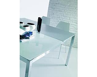 Купить стол M-City MAGO (01.34) 100/140х70хН75 см (G093/ G093/ С150 э-бел.глянц.стекло+L072 ал)