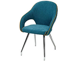 Стул-кресло GRENADE синий, экокожа/ткань M--City