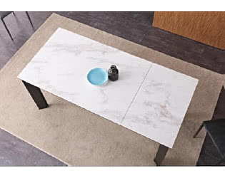 Стол  М-City CORNER 120 Spanish Marble Ceramic+Grey1