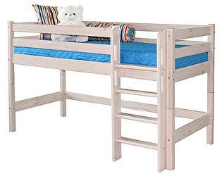 Кровать МебельГрад Соня низкая с прямой лестницей, вариант 11