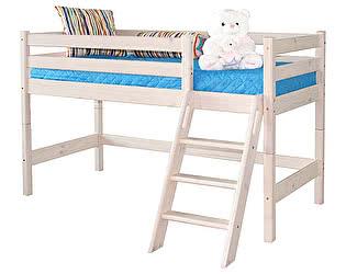 Кровать МебельГрад Соня низкая с наклонной лестницей, вариант 12