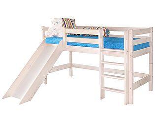 Кровать МебельГрад Соня низкая с прямой лестницей и горкой, вариант 13