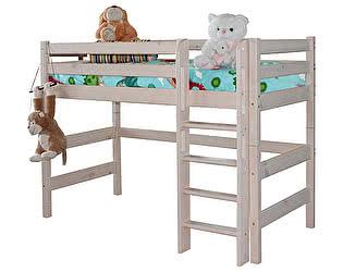 Кровать МебельГрад Соня полувысокая с прямой лестницей, вариант 5