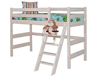 Кровать МебельГрад Соня полувысокая с наклонной лестницей, вариант 6