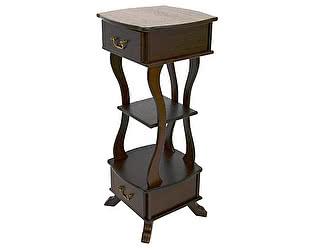 Купить тумбу Мебелик Подставка Берже 14 темно-коричневый