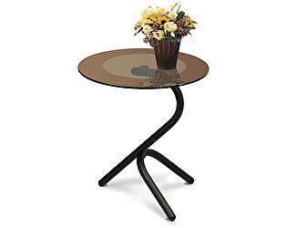 Стол журнальный Мебелик Дуэт 5 чёрный/ тонированное