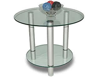 Стол журнальный Мебелик Танго/прозрачное стекло