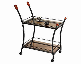 Стол сервировочный Мебелик Поло чёрный/ тонированное