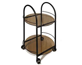 Стол сервировочный Мебелик Гольф чёрный/тонированное