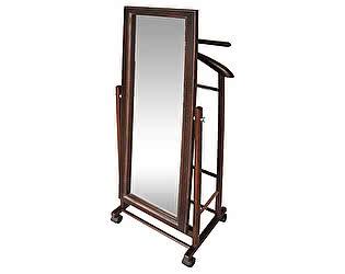 Вешалка костюмная с зеркалом на колесах В 24Н средне-коричневый