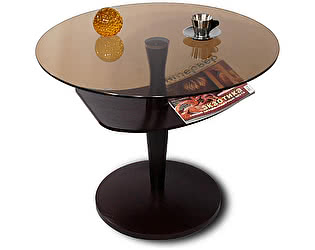 Стол журнальный Мебелик Рио 2 венге/тонированное