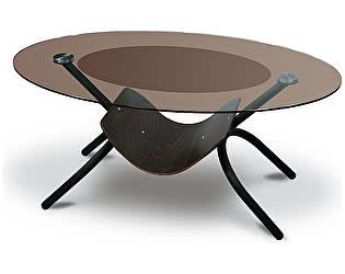 Стол журнальный Мебелик Дуэт 2 чёрный/ тонированное