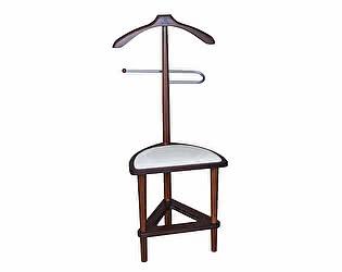 Купить вешалку Мебелик костюмная с сиденьем В 26Н средне-коричневый