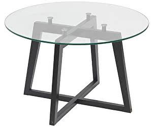 Стол журнальный Мебелик Рилле 445 венге/стекло прозрачное (круглое)