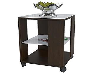 Стол журнальный Мебелик BeautyStyle 6 венге/стекло белое