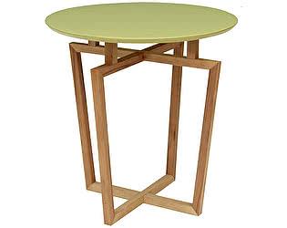 Стол журнальный Мебелик Рилле 440 бук/фисташковый круглый