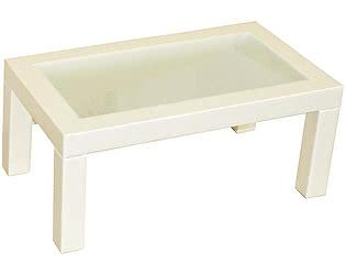 Стол журнальный Мебелик Сакура 3 эко-кожа слоновая кость