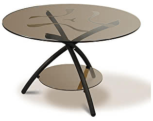 Стол журнальный Мебелик Дуэт 3 чёрный/ тонированное