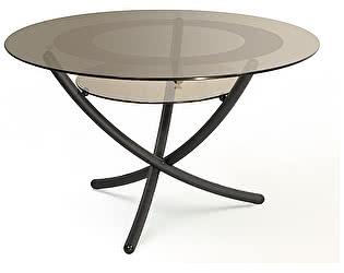 Стол журнальный Мебелик Дуэт 4 чёрный/ тонированное