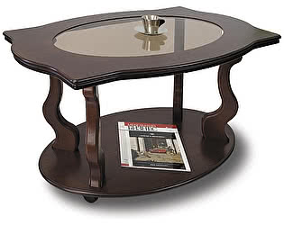 Стол журнальный Мебелик Берже 3С тёмно-коричневый