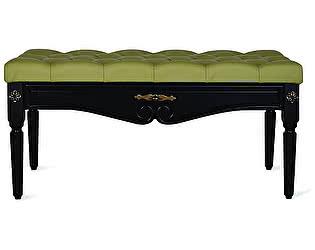 Купить банкетку Мебелик Сильвия эко-кожа оливковый/венге