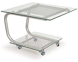 Стол журнальный Мебелик Дуэт 9 металлик/ прозрачное