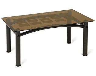 Стол журнальный Мебелик Робер 3М чёрный/ тонированное